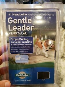 Gentle Leader -Dog No-Pull Headcollar Size Small Upto  25 Pounds NEW DVD ROM