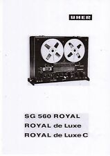 Uher Service Manual für SG 560 Royal - Royal de Luxe /C deutsch Copy