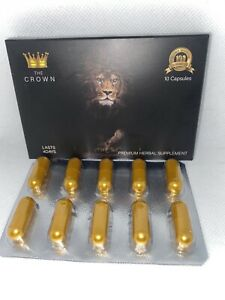 The Crown Male Enhancement ,Men Sex Pills,strong Natural Energy Booster  10 Ct