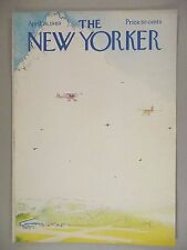 New Yorker Magazine - April 26, 1969 - COVER ONLY ~~ Arthur Getz small airplanes