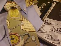 Tie Fornasetti cravatta made in italy seta epoca arte autore luxury 13A