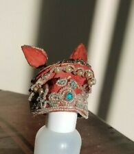 Antique Vintage Chinese Asian Opera Doll Headdress Head Dress Hat Costume