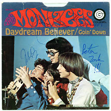 THE MONKEES Signed By All 4 Daydream Believer Picture Sleeve 1967  PSA Guarantee