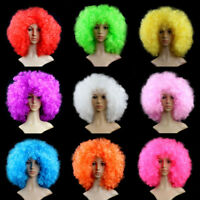 Womens Super Afro Wig Curly Disco Clown Halloween Hair Fancy Dress Cosplay Party