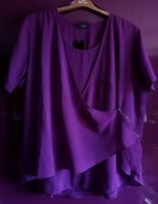 Ropa de múltiples capas púrpura Floaty suya Fiesta Top, Señoras curvas Talla Plus!