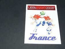 N°332 MASCOTTES FRANCE BLEUS PANINI FOOTBALL UEFA EURO 2008