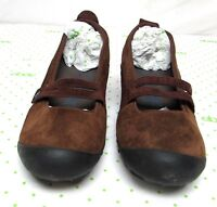 Merrell women's size 9 M cherry oak suede leather mary jane shoes