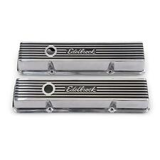 Edelbrock 4262 Elite Series Valve Cover Set, Small Block Chevy 305 350 400 SBC