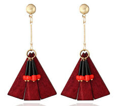 MARNI H&M Pendant Earrings Red