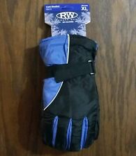 BLUE XL Mens SKI GLOVES Snowboard Bike Lined Warm Winter Water Repellent NWT