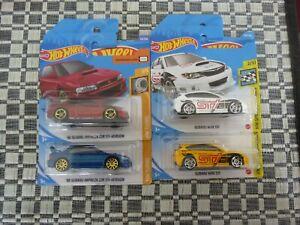 Hot Wheels Suburu x 4
