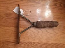 vintage horse tail comb curry tool wood handle