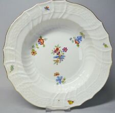 (G3353) Meissen Suppenteller, Neubrandenstein, Blumen Dekor, D= 24 cm