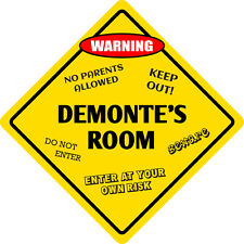 """*Aluminum* Demonte's Room Kids Room Door 12""""x12""""  Metal Novelty Sign"""