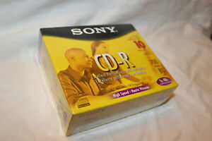 PACK OF 10 SONY CD-R RECORDABLE CDs - 700 MB - 80 MIN - NEW IN PACKAGE