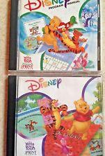 Lot of 2 Disney Interactive Pooh Print Studio & Holiday PS CD ROMs - Piglet