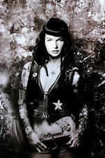 MODEL KAT von D AS BETTIE PAGE POSTER sexy SULTRY tough hot 24X36