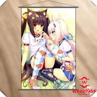 Poster Wall Anime Neko Para Chocolat Vanilla Scroll Home Decor Gift 60*90CM #B3