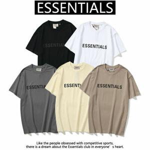 FEAR OF GOD ESSENTIALS T-shirts Teens Classic FOG Short Sleeve Tops Tee Shirt++