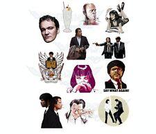Pulp Fiction Tarantino Vincent Vega Mia Wallace Travolta A5 stickers set decals