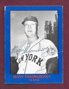 1982 Renata Galasso 1962 New York Mets Team Set Marv Throneberry Autograph (30)