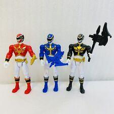 2012 Power Rangers Megaforce SCG PR Action Figures Red Blue Black Ranger