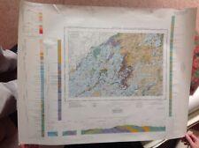 "Ordnance Geological Survey 1""map Bewcastle Fells Cumberland Liddel Water Solport"