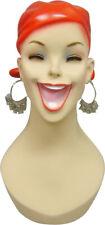 Artistic Vintage Fiberglass Adult Female Smiling Costume Mannequin Head