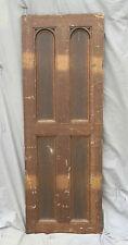 Antique Oak Cabinet Cupboard Door Old Vintage Kitchen Pantry Arch Top 1077-16