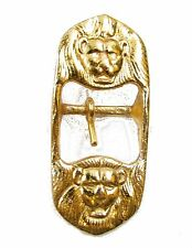 Buckle for Belt Sword Sling Two Lion Heads Gold 25mm Wide Sold Each R906
