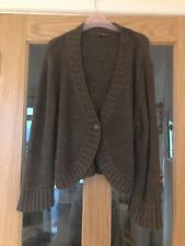 TU Size 14 Brown V Neck Shrug With Long Sleeves
