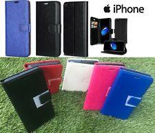 De Lujo Trasera/Abatible Billetera Cuero Estuche Cubierta para Apple iPhone 4 4S 5 5S 6 6S X XS