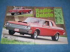 "1964 Dodge 330 Sedan RestoRod Article ""Radio-Delete"""