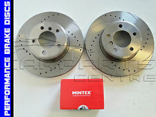 LEXUS IS220 IS220D IS250 SPORT FRONT DRILLED and GROOVED BRAKE DISCS MINTEX PADS