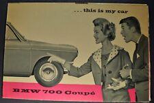 1960 BMW 700 Coupe Sales Brochure Folder Excellent Original 60