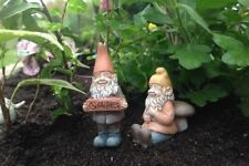 Miniature Dollhouse FAIRY GARDEN - Johnny And Timmy Gnomes - Accessories