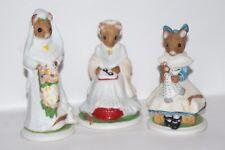 Lot of 3 Franklin Mint Woodhouse Mouse: Celestine, Lucinda, Elizabeth