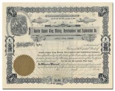 Austin Copper King Mining, Development & Exploration Co. Stock Certificate