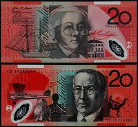 Australian $20.00 Banknotes x 2 Consecutive GEM Uncirculated Grade
