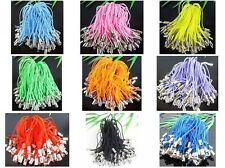 100Pcs Mixed Charm Mobile Phone Dangle Strap String Thread Cord