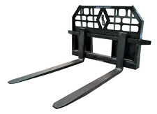 Blue Diamond Heavy Duty Pallet Forks 5000 LBS Capacity Skid Steer Attachment