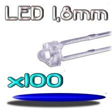 361/100# LED bleu  1,8mm 100pcs --- 2000mcd
