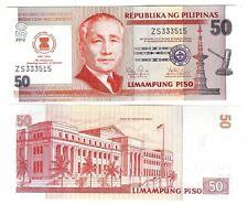 PHILIPPINEN PHILIPPINES 50 PISO 2012 ASEAN UNC P NEW