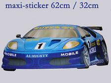 maxi sticker mural chambre enfant voiture de course N°2
