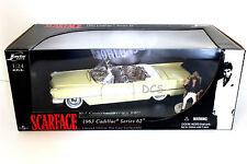 "JADA 1963 CADILLAC SERIES 62 FROM MOVIE ""SCARFACE AL PACINO'S 1/24 DIECAST CAR"