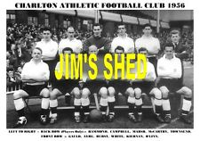 CHARLTON ATHLETIC TEAM PRINT 1956 (MARSH/WHITE/AYRE/O'LINN/TOWNSEND/HAMMOND))