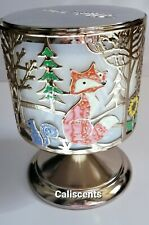 BATH BODY WORKS FOREST FRIENDS 3 THREE WICK CANDLE HOLDER  PEDESTAL NEW X1