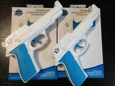 x2 Light Pistol Hand Gun Adapter - Nintendo Wii Controller Nunchuck Compatible