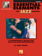 """""""ESSENTIAL ELEMENTS FOR JAZZ ENSEMBLE""""-CLARINET MUSIC BOOK W/ONLINE ACCESS NEW!!"""