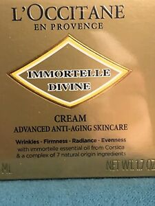 NEW L'OCCITANE Immortelle Divine Cream 50ml RRP £79 Moisturiser.BNIB SEALED